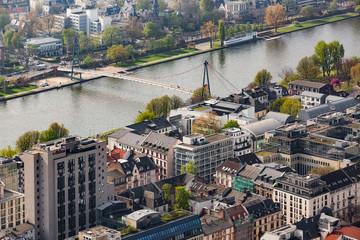 Blick von oben auf die Stadt Frankfurt am Main