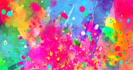 Abstract background of color stains of paints Wall mural