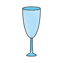 colorful  wine glass doodle  over background  vector illustration