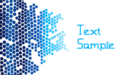 Vector Abstract Geometric Cellular Background. Trendy Hi-Tech Honeycomb Polygonal Mosaic Template Pattern.