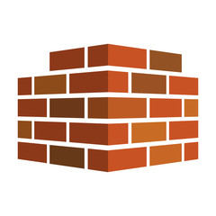 Bricks icon. Bricks logo. isolated on white background. Vector illustration.