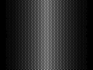 Vector Gradient  Halftone  Black and White Background