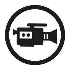 Video camera Icon, flat design style