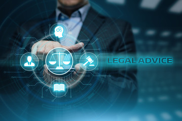 Legal Advice Attorney at law business internet technology concept