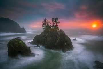 The Oregon coast sunset Wall mural