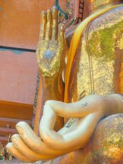 Close Up Buddha statue Wat Tham Seua..