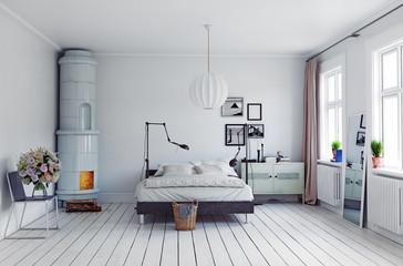 modern bedroom Wall mural