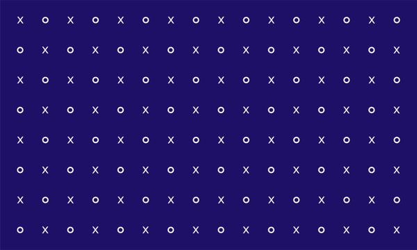hipster XOXO love Vector Seamless Transition Abstract Background Pattern.