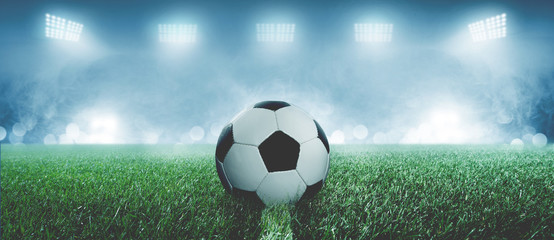 Fußball in einem Stadion