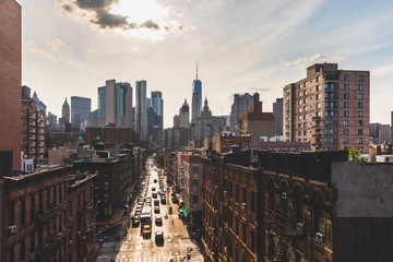 Chinatown and downtown Manhattan in New York