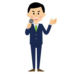 15シリーズ_ビジネスマン2_マイク演説