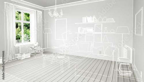 Bucher Im Wohnzimmer Einrichtung Und Dekoration Konzeption