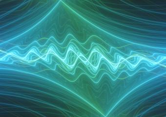 Blue lightning, plasma and power background