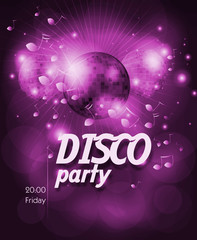 Poster for disco party