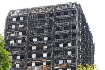 Grenfell tower fire, London Fototapete