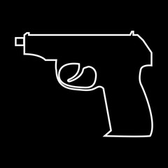 Hand gun it is icon .