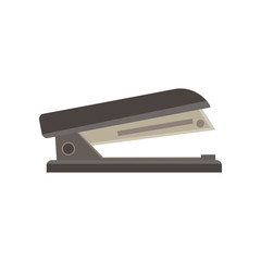 Stapler vector illustration isolated icon office business clip design flat iron paper stapling