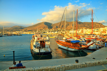 Morning at Chersonissos, Crete, Greece.
