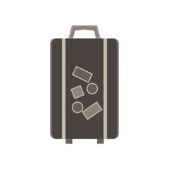 Travel bag vector suitcase illustration luggage trip  tourism concept design background object vacation