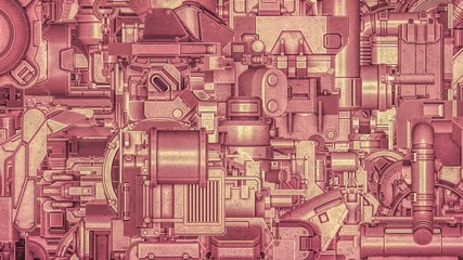 Wide Hi-Tech Machinery Background
