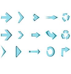 Arrows vector icon set circle sign design creative isolated symbol illustration.
