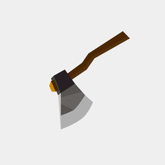 Axe icon flat. Illustration isolated vector sign symbol danger blade handle heavy metal sharp