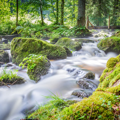 Wasserfall in Triberg im Schwarzwald Wasserfälle