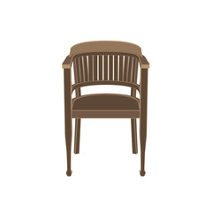 Chair wooden vector isolated furniture illustration white vintage background interior classic