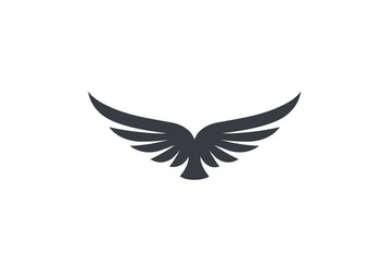 Eagle soaring rising Wings Logo vector. Luxury flying bird icon