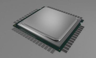 CPU MODEL of background, 3d