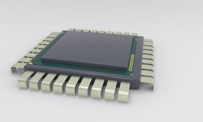 CPU symbol of background, 3d