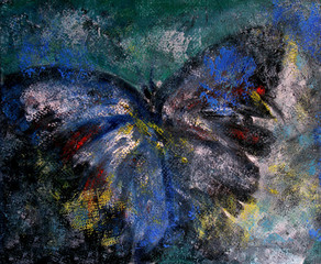 Butterfly abstract oil painting