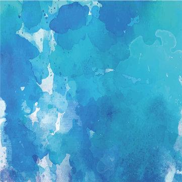 blue watercolor blot. Vector