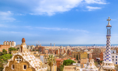 Park Guell, Panorama, Barcelone