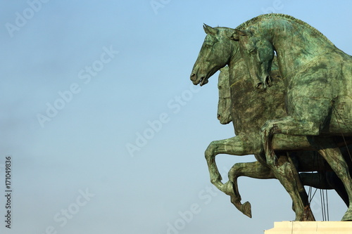 Roma Terrazza Delle Quadrighe Stock Photo And Royalty Free Images