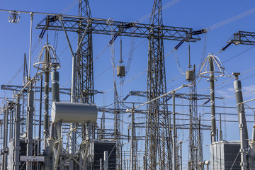Dangerous High Voltage Electrical Power Substation IV