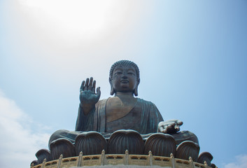 Tian Tan Buddha as the big buddha is a large bronze statue