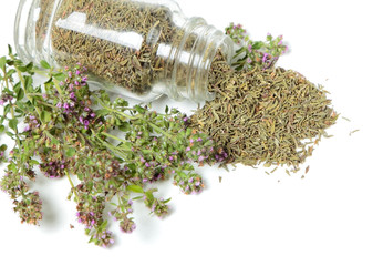 Bottle with thyme