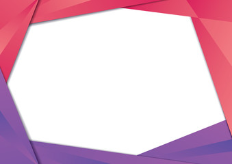 Red and Purple gradient triangle frame border. EPS10 vector template