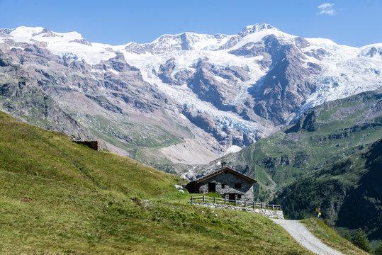 Gressoney Valley (Monte Rosa) in Italy