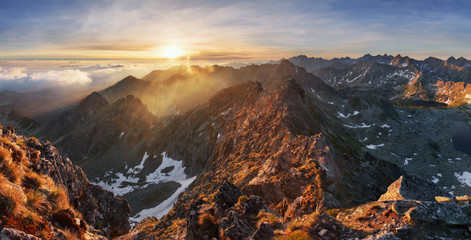Wall Mural - Mountain landscape at summer in Slovakia Tatras