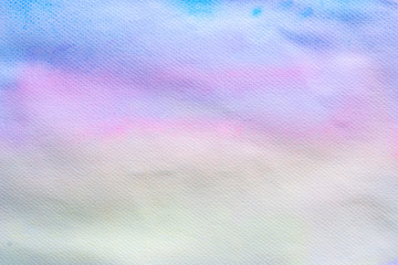 Abstract watercolor sky in sunrise time for background usage.
