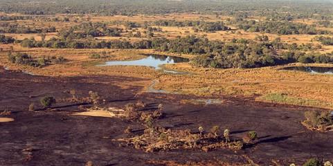 Okavango Delta from the air, Botswana