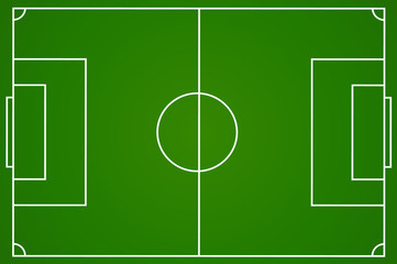 Foto auf Acrylglas Grun Soccer field camp isolated. Soccert court in flat style. Vector stock.