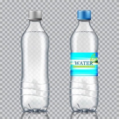 bottle of water on a white background. Vector illustration