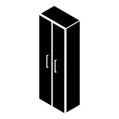 Wardrobe icon, simple style
