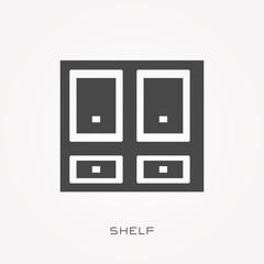 Silhouette icon shelf