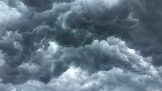 Over head Shot of rain cloud ; weather change
