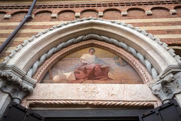 the Courtyard of the  Palazzo della Ragione in Verona. Italy