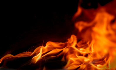 Fire flames background